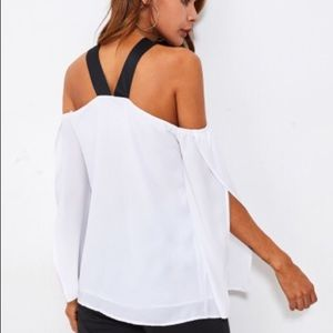 Tops - White off shoulder blouse